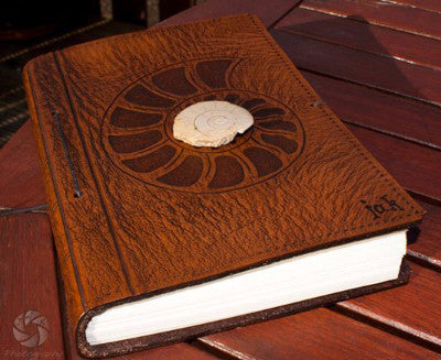 Jamie Keating's leather journal from Earthworks Journals