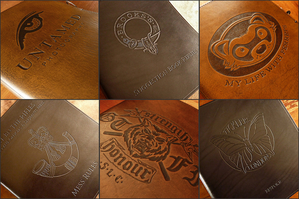 LEATHER JOURNAL CUSTOM DESIGNS - EARTHWORKS JOURNALS