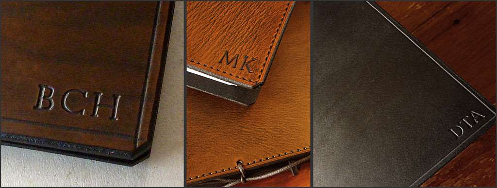 Leather Journals Free Initials - Earthworks Journals