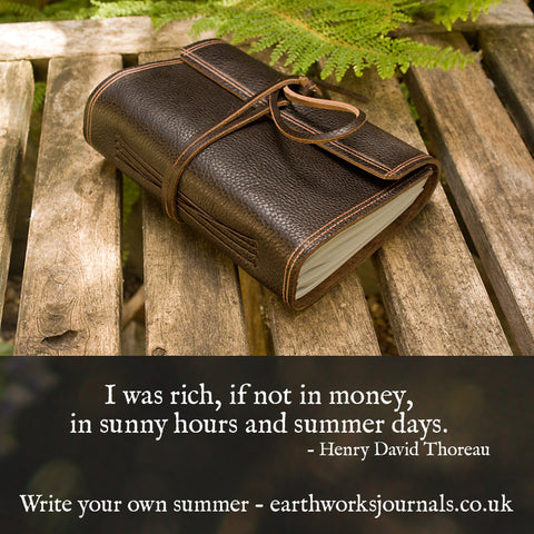 Write your own summer - thoreau quote - earthworks journals