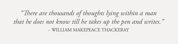 William Makepeace Thackeray Quote Earthworks Journals