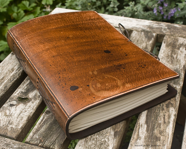 A5 ONE OF A KIND SCRUFFY OLD SCHOOL DISTRESSED LEATHER JOURNAL 1 - OOAK01