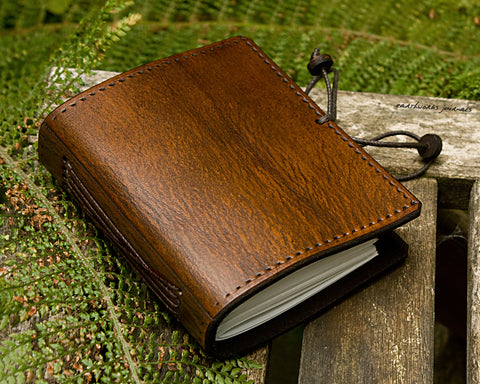 a7 brown leather journal - plain classic - earthworks journals A7PC001