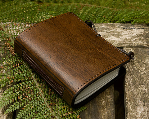 a7 dark brown leather journal - plain classic - earthworks journals A7PC002