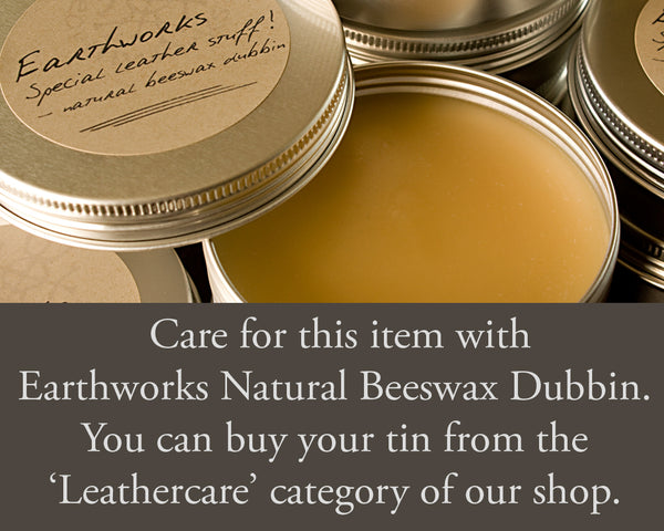 Earthworks special leather stuff - natural beeswax dubbin - earthworks journals