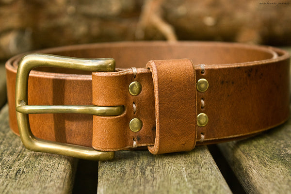 the earthworks classic brown leather belt 2 - earthworks journals - ECLB002