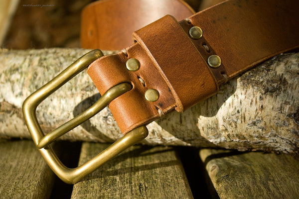 the earthworks classic brown leather belt 3 - earthworks journals - ECLB002