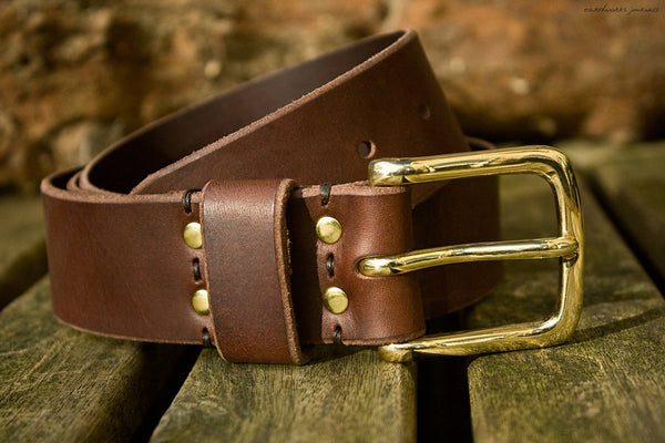 the earthworks classic dark brown leather belt 2 - earthworks journals - ECLB003