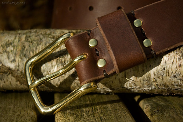 the earthworks classic dark brown leather belt 3 - earthworks journals - ECLB003