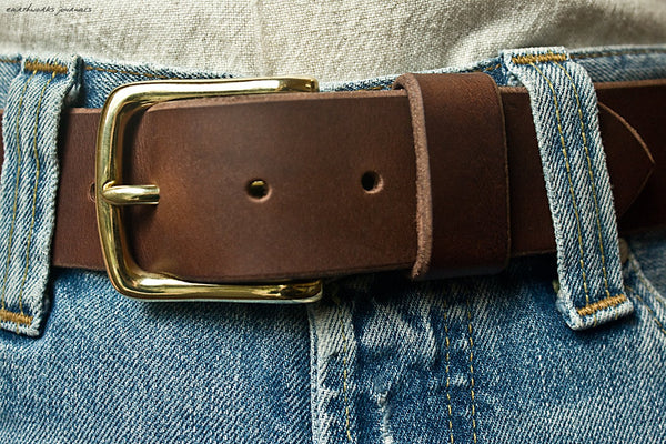 the earthworks classic dark brown leather belt 4 - earthworks journals - ECLB003
