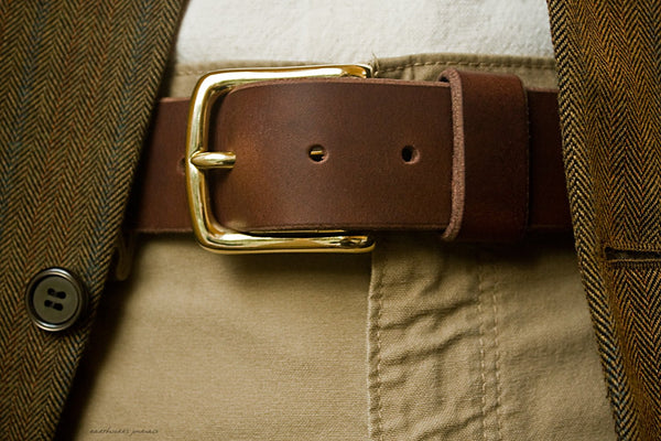 the earthworks classic dark brown leather belt 5 - earthworks journals - ECLB003