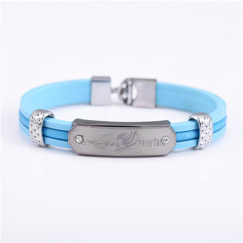 Fairy Tail Blue Leather Bracelet