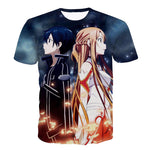 New Anime Sword Art Online T-shirts