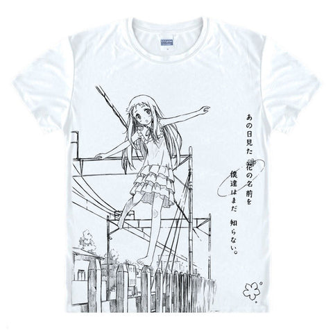 Anohana Black and White TShirt