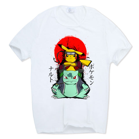 Pokemon - Pikachu & Bulbasaur Ninja T-shirt