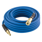 "1/4"" x 50' PVC/Rubber Hybrid Air Hose with 1/4"" NPT Brass Fittings"