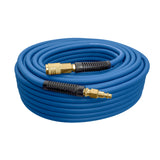 "3/8"" x 100' PVC/Rubber Hybrid Air Hose with 1/4"" NPT Brass Fittings"