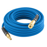 "3/8"" x 50' PVC/Rubber Hybrid Air Hose with 1/4"" NPT Brass Fittings"