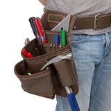 9 Pocket Leather Contractor's Tool Pouch