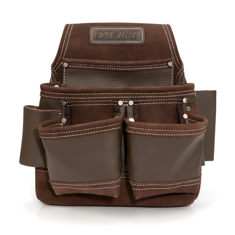 9-Pocket Full Leather Framer's Pouch