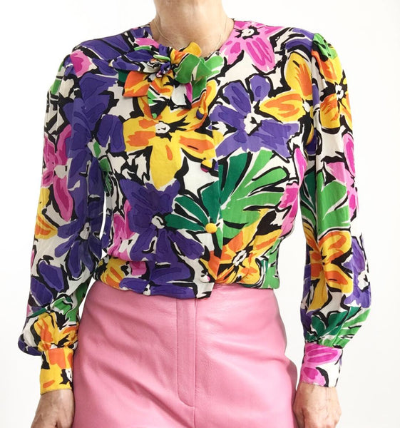 Sail Into Spring Silk Blouse