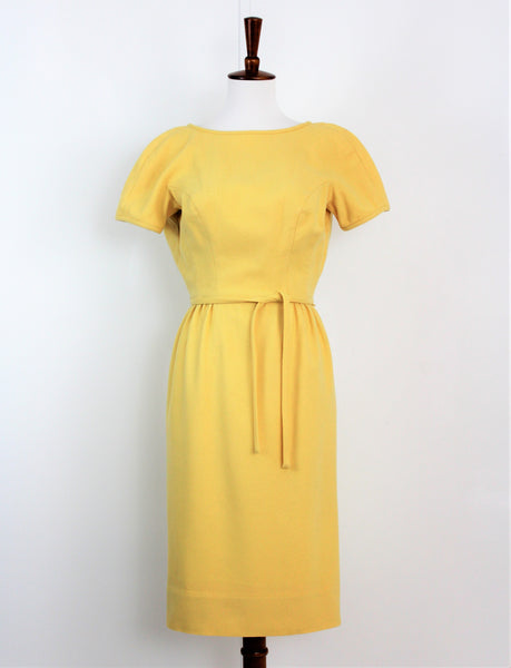 Vintage 1960's Anne Fogarty Wool Wiggle Dress