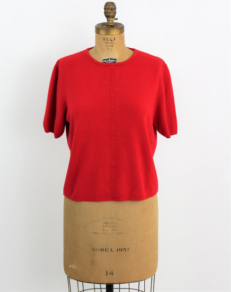 Vintage Tally Ho Sweater in Lipstick Red