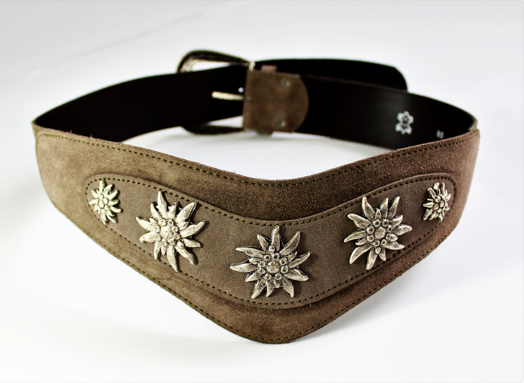 Vintage 70s Meet Me In The Alps Leather Belt