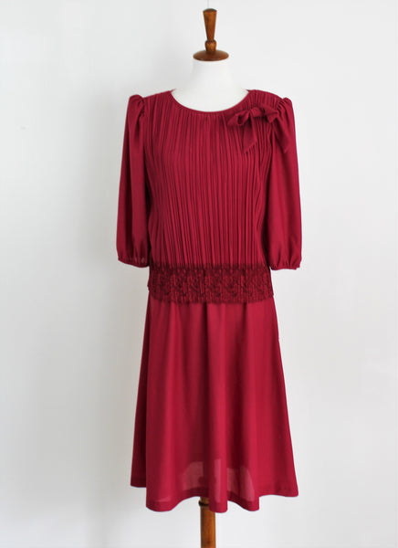 Vintage Good Times Burgundy Dress
