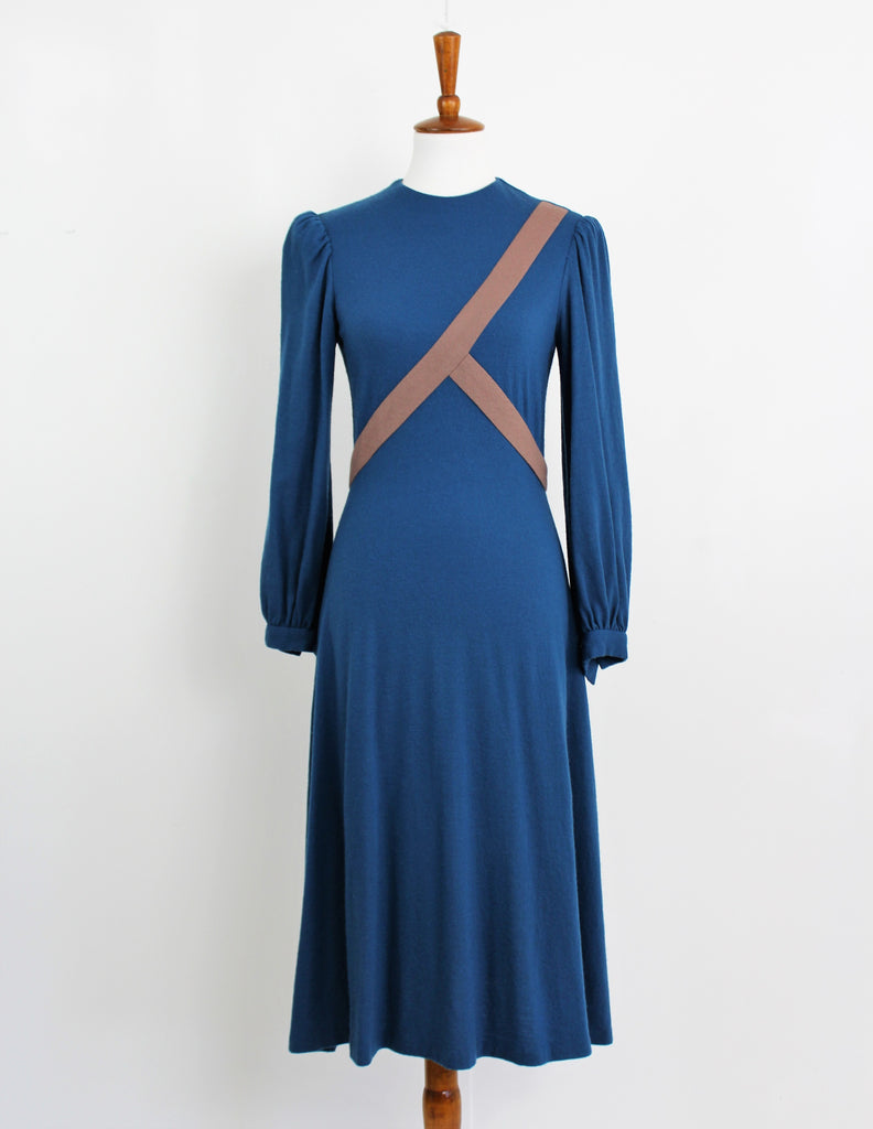 Vintage Late 1960's Wool Dress Carillon