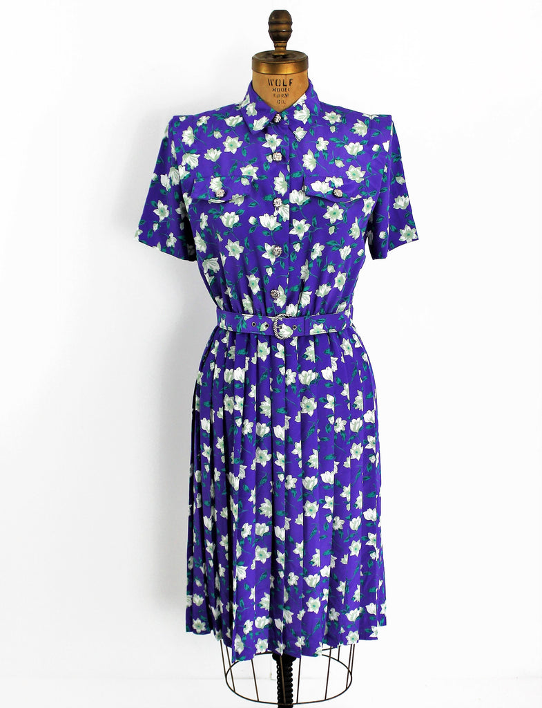 Vintage 1980's Purple Passion Shirtwaist Dress