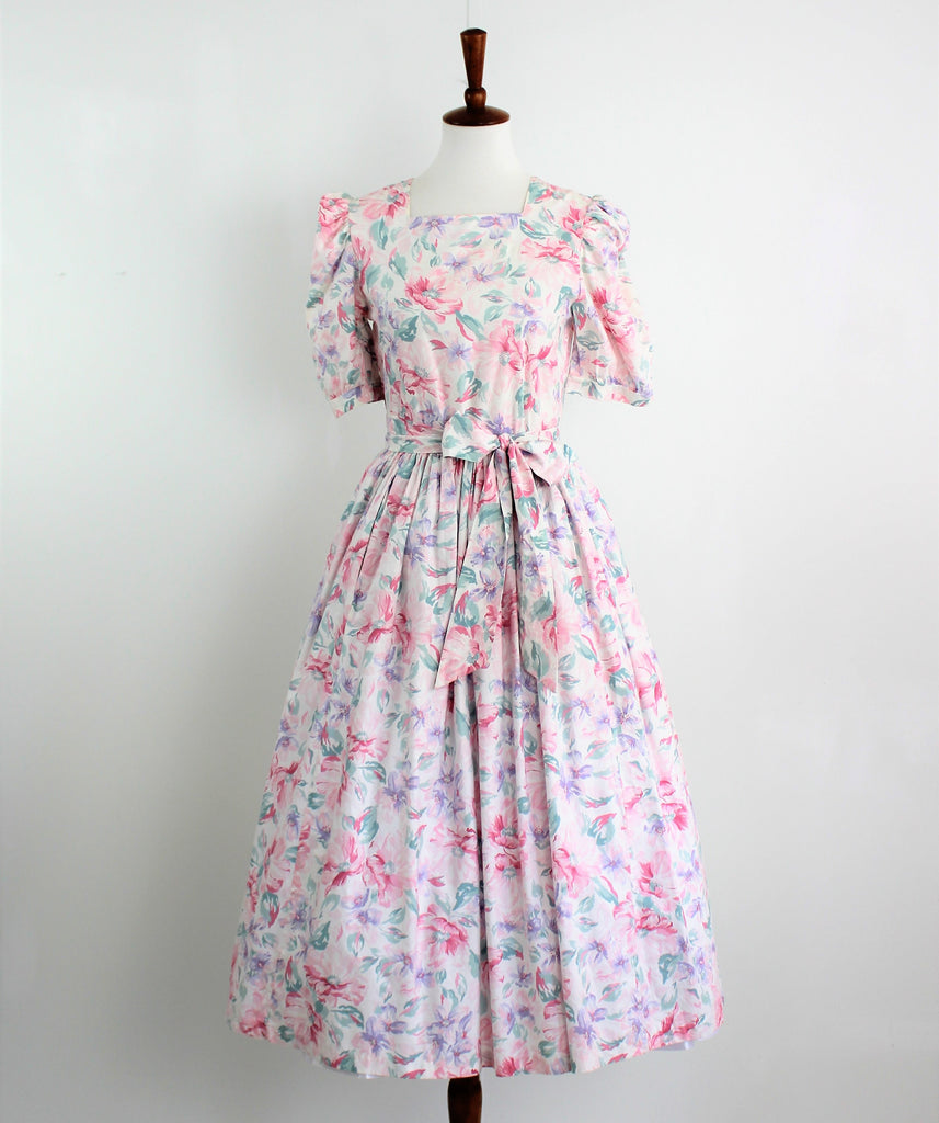 Vintage Laura Ashley Country Rose Dress