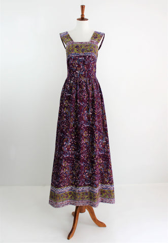 Vintage Batik Cotton Sundress