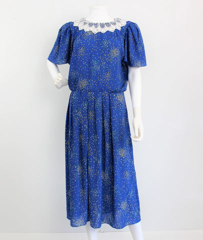 Vintage 1970's does 40's Sparkle in the Night Dress
