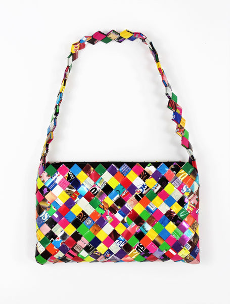Cool Muticolor Candy Wrapper Purse Made From Recycled Mexican Wrappers