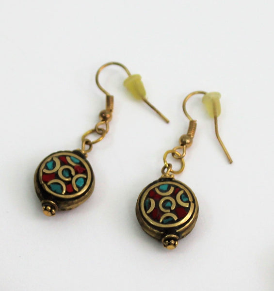 ARTISAN Earrings & MATCHING Bracelet W/COLORFUL MARUTI BEADS