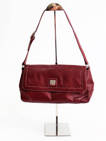 Vintage 1970's Etienne Aigner Burgundy Over The Shoulder Purse