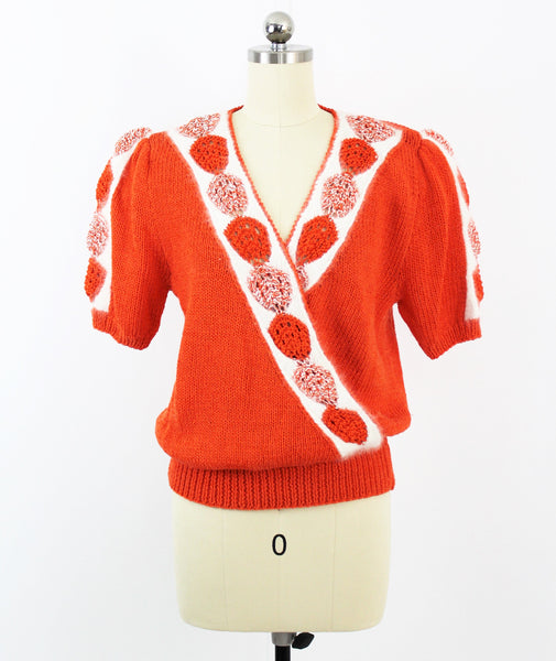 Vintage Lillie Rubin New Wave Angora Hand Knit Sweater