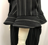 Vintage Giorgio Armani Striped Peplum Wool Silk Suit