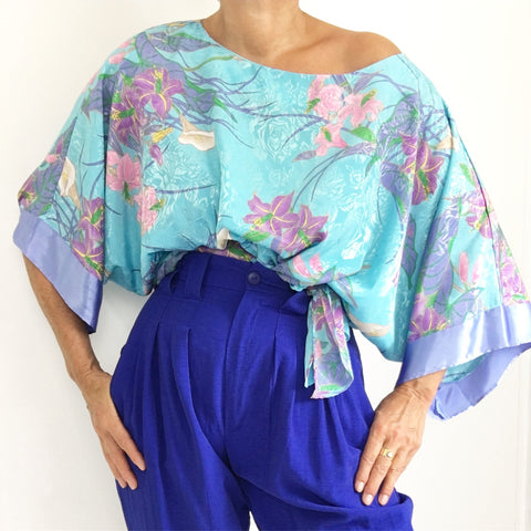 Fancy Up Kimono Vintage Blouse Top