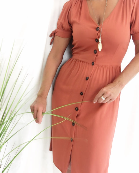 Button Up Lightweight Summer Market Dress