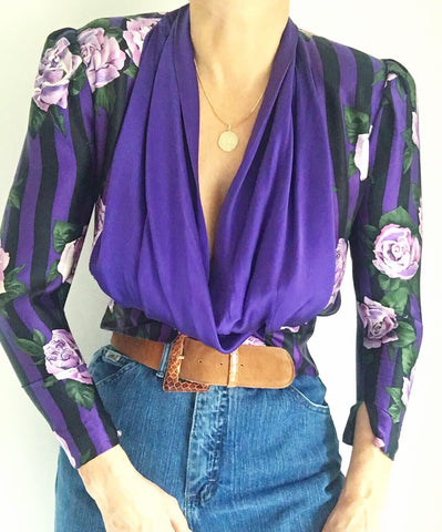 Whispered Words Silk Blouse