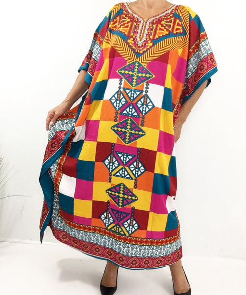 Colorful Summer Caftan Dress Robe
