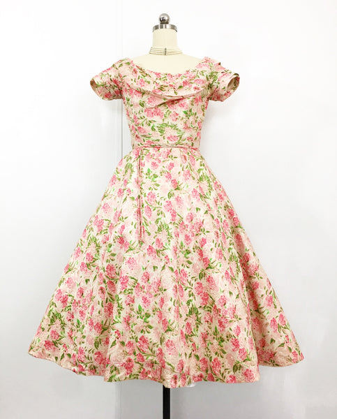 Dance With Me - 1950s Ceil Chapman Silk Taffeta Cocktail Dress