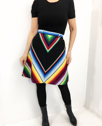 Vintage 70s Rainbow Mini Skirt