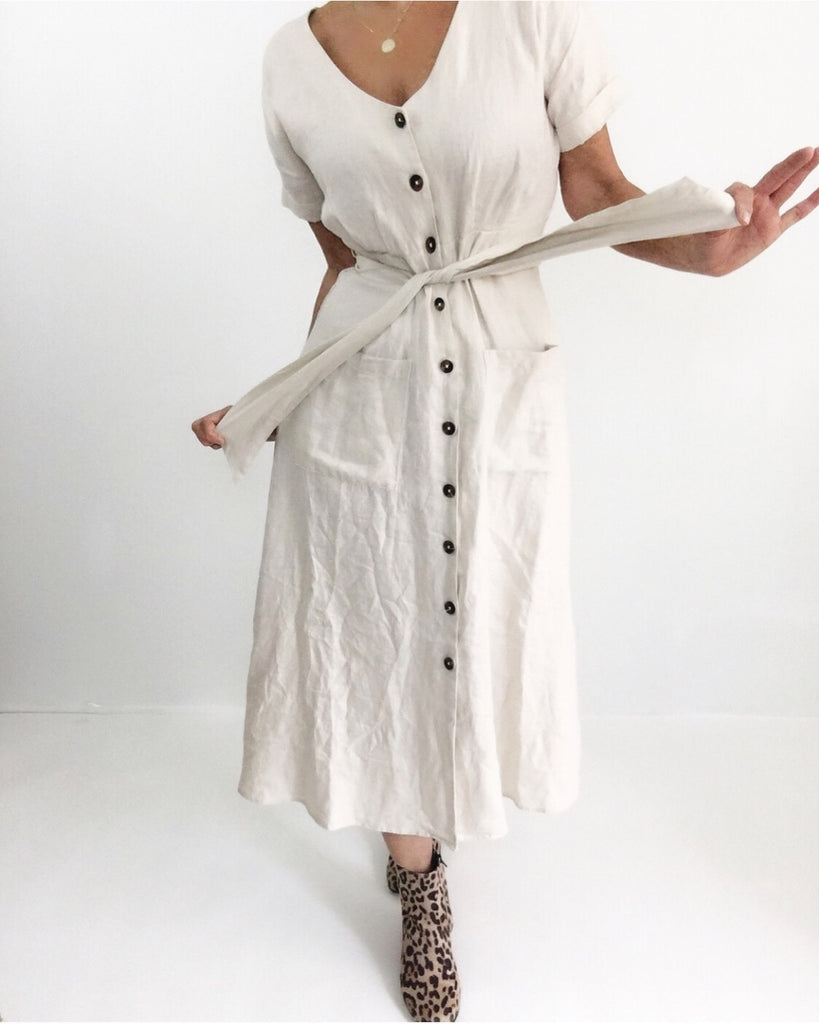 Linen Dress OFF White NWT