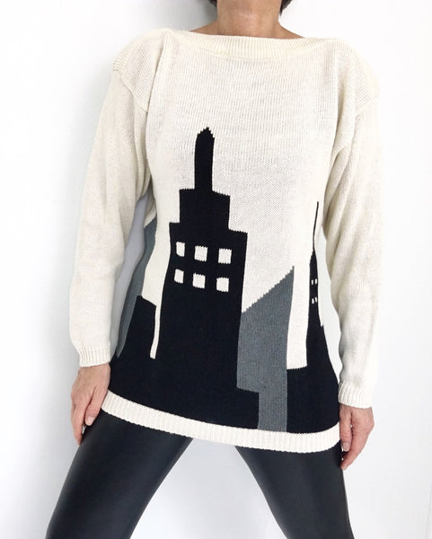 "Vintage Boatneck ""New York"" Sweater"