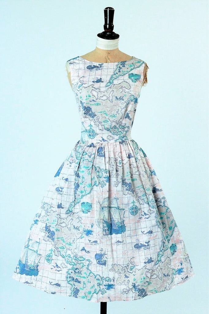 Vintage Inspired Laura Ashley Novelty Print