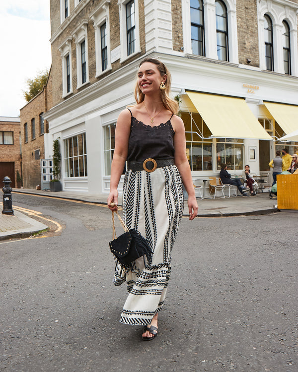 PAROS MAXI  SKIRT IN BLACK