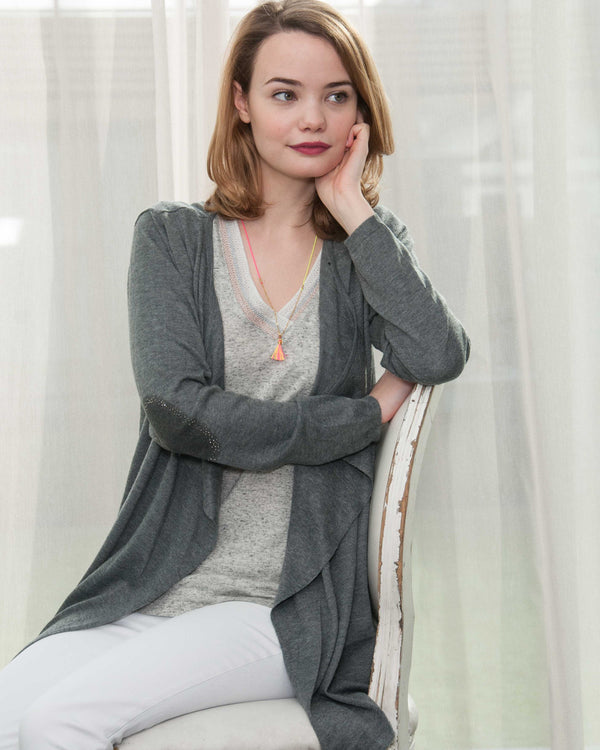 ANGEL WINGS CARDIGAN IN GREY